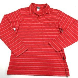 Patagonia Mens Size Small Red Striped LS Size S